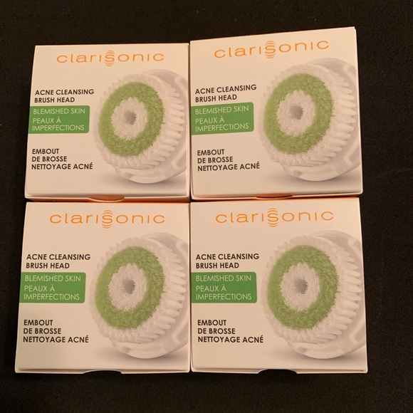 4 Clarisonic Acne Cleansing Brush Heads